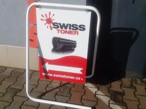Reklamní stojan SwissToner.cz