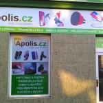 Polep výlohy a montáž reklamní cedule v Brně