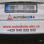 Polep auta - Autoškola ABC