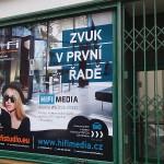 Polep výlohy v centru Brna