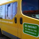 Reklamní polep auta BS Mont