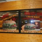 Polepy Contry Burger - Polepy výloh Brno