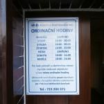 Cedule veterinární ordinace