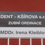 Cedule zubní ordinace, Brno