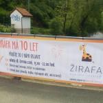 Reklamní plachta RC Žirafa