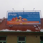 Reklamní plachta Invia