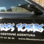 Polep auta cestovní agentury