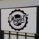 Reklamní cedule - kavárna v centru Brna