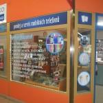 Polep prodejny ve vestibulu metra, Praha - Opatov