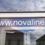Polep výlohy NOVAline - Rosice