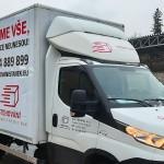 Polep nákladního auta Brno