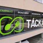 Polep výlohy Táckárna Brno