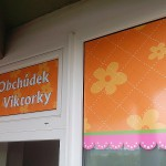 Polep výlohy Brno - Obchůdek u Viktorky