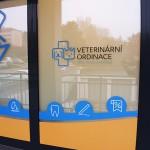 Polep výlohy veterinární ordinace v Brně