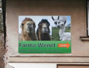 Reklamní cedule - farma Wenet