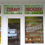 Polep výlohy Brno - Zdravý obchůdek