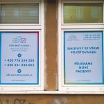 Polepy výloh - Rodinný zubař, Brno